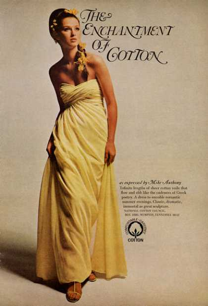 Mike Anthony Design Cotton Dress (1966)