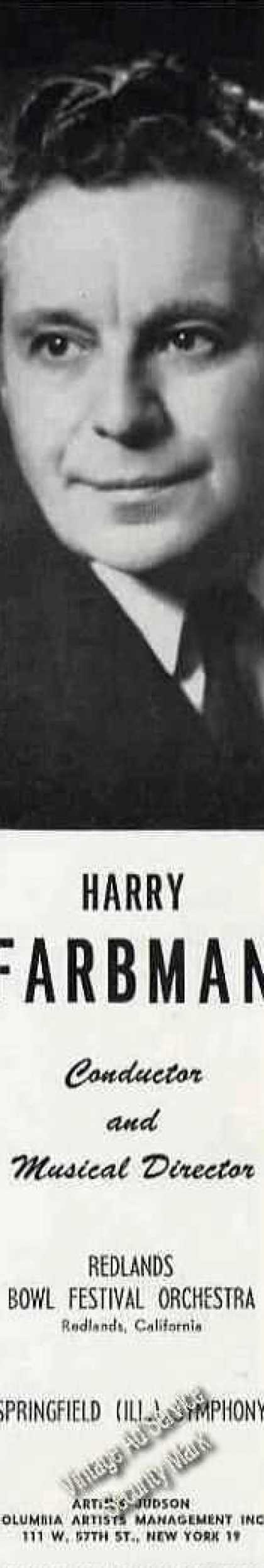 Harry Farbman Photo Conductor Music (1960)
