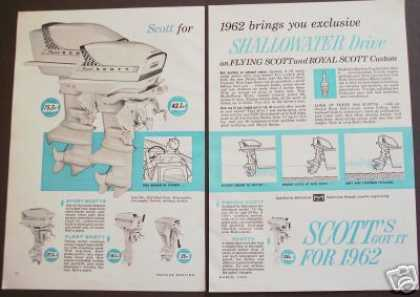 Scott Outboard Boat Motors Original (1962)