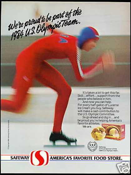 U.S Olympic Speed Skater Safeway Sponsor Photo (1984)