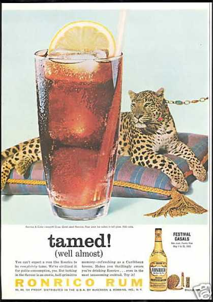 Ronrico Rum Almost Tamed Leopard Cat (1959)