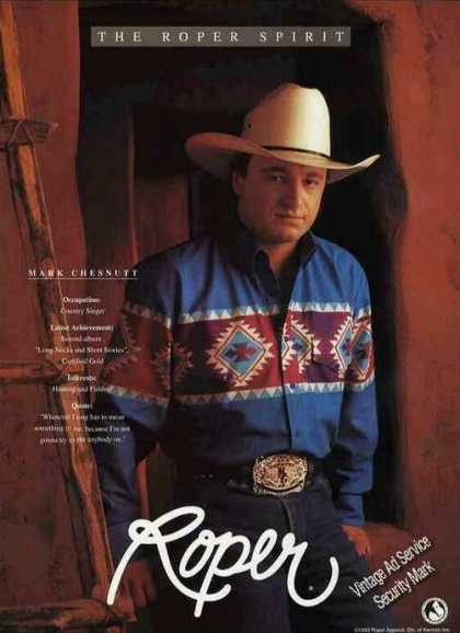 Roper Western Fashions Mark Chesnutt Photo (1993)