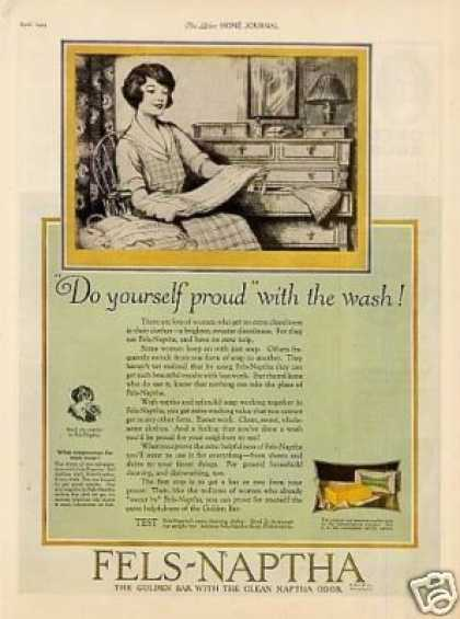 "Fels-naptha Soap Ad ""Do Yourself Proud... (1925)"