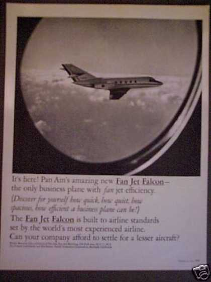 Pan Am Fan Jet Falcon Business Jet Plane (1965)