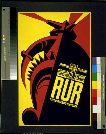 "Federal Theatre – Marionette Theatre presents ""RUR"" – Remo Bufano director. (1936)"