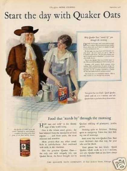 "Quaker Oats Ad ""Start the Day... (1926)"