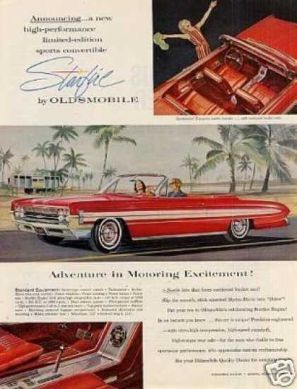 Oldsmobile Starfire Convertible Car (1961)