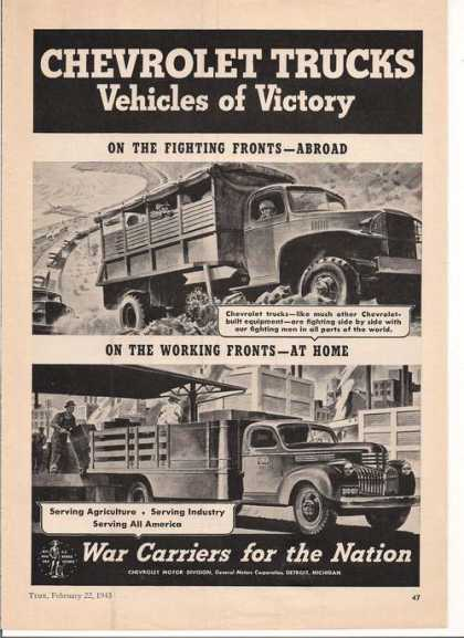 Vehicles of Victory Chevrolet Trucks Print (1943)