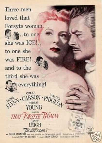 "Movie Ad ""That Forsythe Woman"" Greer Garson (1949)"