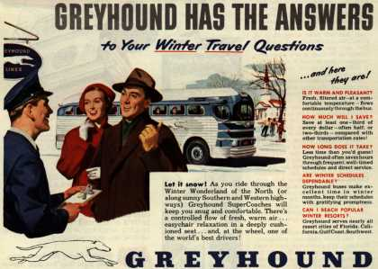 Greyhound's Winter travel – Greyhound Has The Answers (1950)