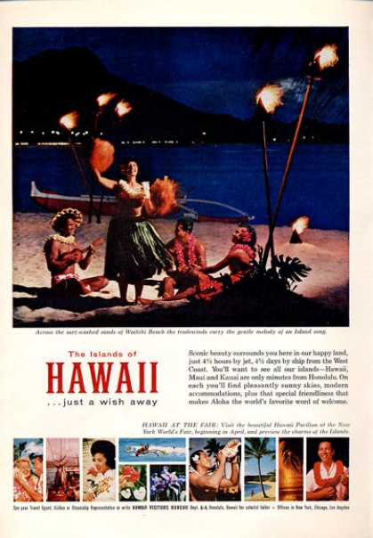 Hawaii Vistitors Waikiki Beach Island Song (1964)