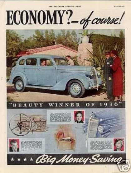 Dodge Car Color Ad 2 Page (1936)