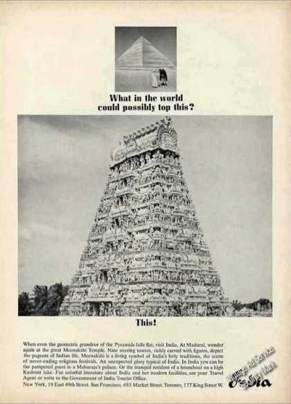 Nice Meenakshi Temple Photo India Travel (1964)
