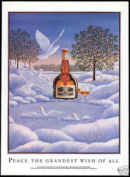 Grand Marnier Liqueur Peace White Doves (1992)