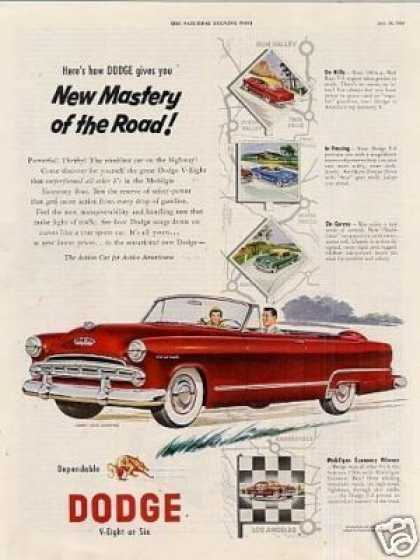 "Dodge Coronet Convertible Ad ""New Mastery... (1953)"
