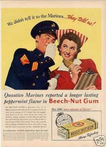 Beech-nut Chewing Gum (1941)