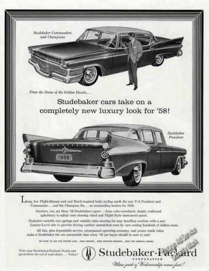 Studebaker Cars Take On a New Luxury Look (1958)