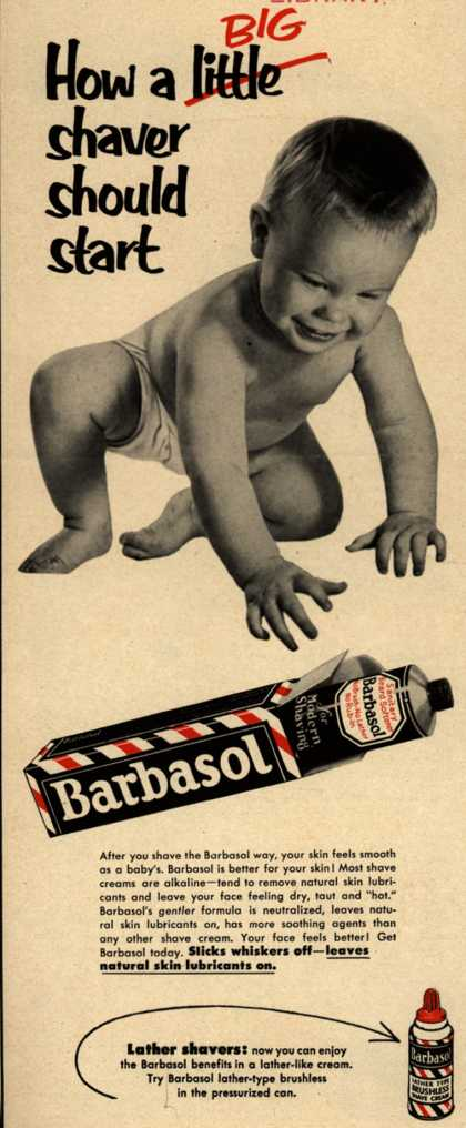 Barbasol – How a Big shaver should start (1953)