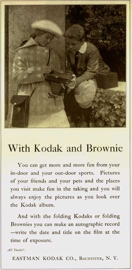 Kodak – With Kodak and Brownie (1917)