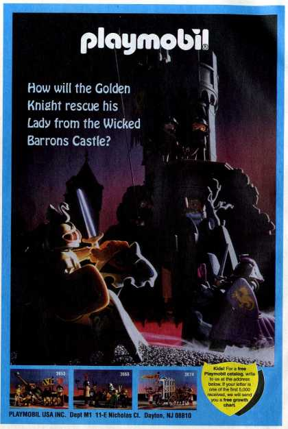 How will the golden knight rescue his Lady from the Wicked Barrons Castle? (1995)