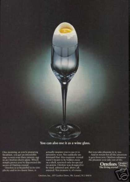 Orrefors Sherry Glass Egg Holder Photo (1981)