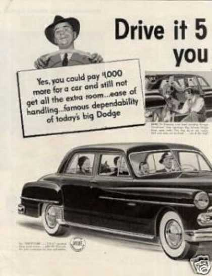 Dodge Car Ad 2 Page (1951)