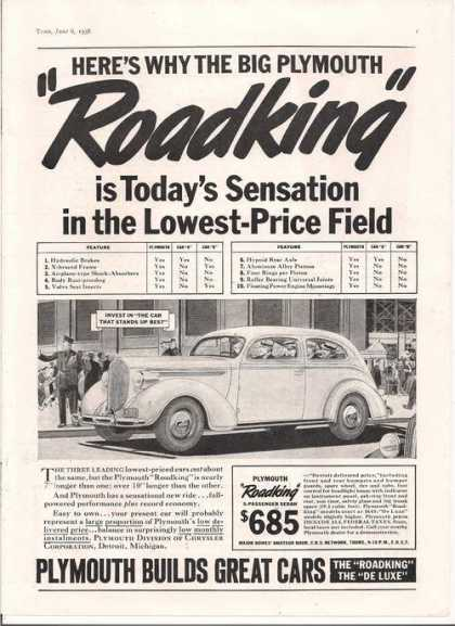 Plymouth Roadking Car (1938)
