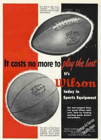 Wilson Wr Intercollegiate Football Photo (1951)