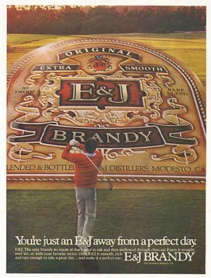 E&J Brandy Golfer Golf Perfect Day (1982)