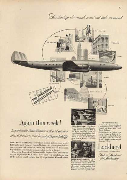 Lockheed Constellation Plane Aircraft (1951)