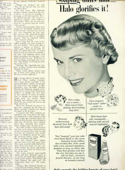 Halo Shampoo Pretty Woman C 1/2 Page (1953)