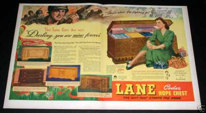 Lane Cedar Hope Chest, Wartime (1944)