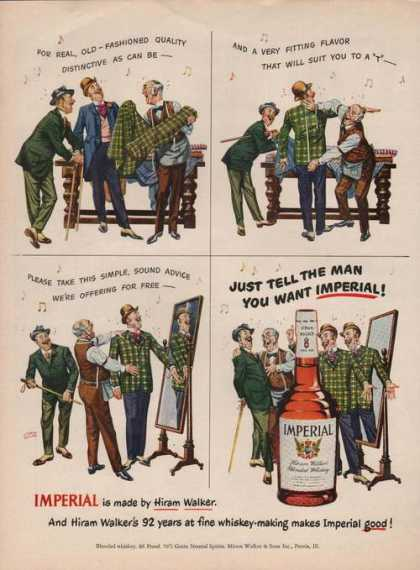 Imperial Whiskey Cartoon (1950)