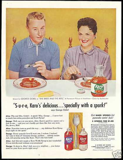 George & Alice Gobel Photo Vintage Karo Syrup (1956)