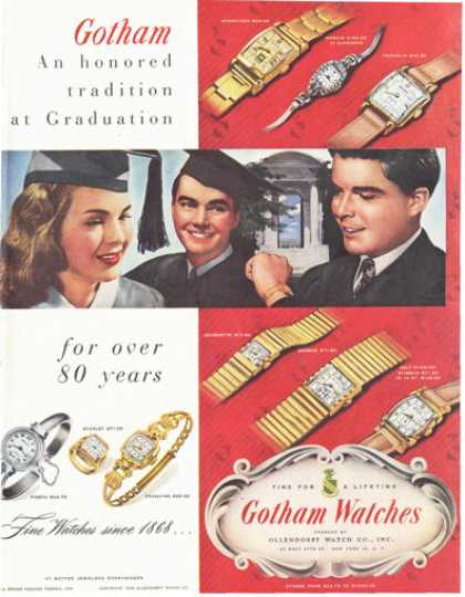 Gotham Watches 9 Models Print (1949)