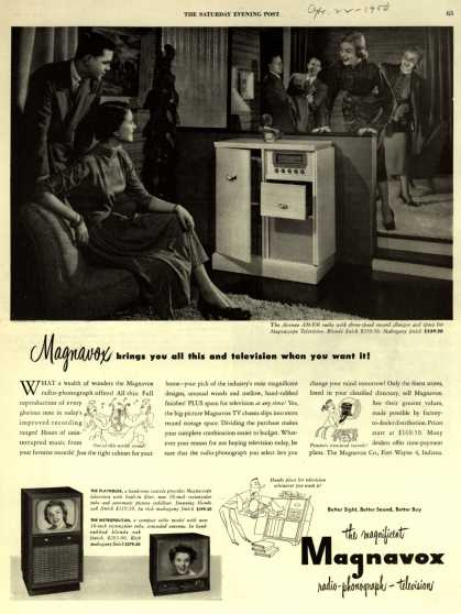 Magnavox Company's Radio-Phonograph-Television – Magnavox brings you all this and television when you want it (1950)