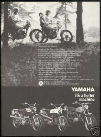 Yamaha Motorcycle Enduro Trailmaster Photo (1969)