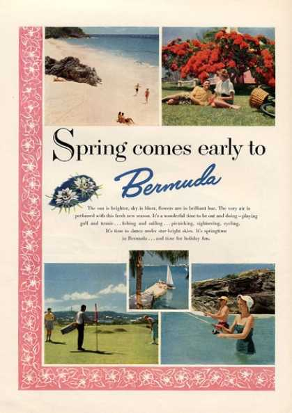 Bermuda Spring Comes Early To – Golf Fish (1953)