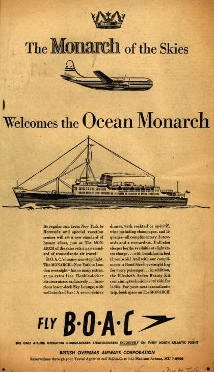 British Overseas Airways Corporation's Monarch – The Monarch of the Skies Welcomes the Ocean Monarch (1951)