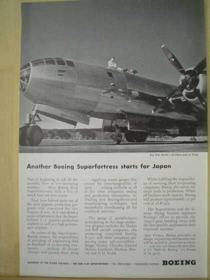 Boeing Airlines Another Boeing Superfortress starts for Japan (1944)