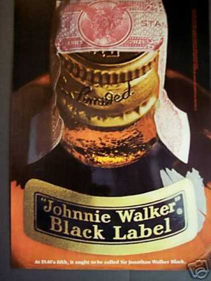 Johnnie Walker Black Label Scotch Whisky (1967)
