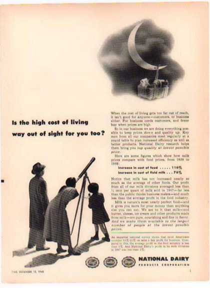 National Dairy – Cost of Living Out of Sight? (1948)