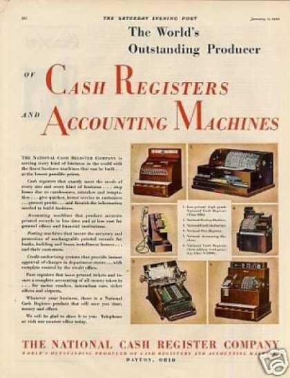 National Cash Registers Color (1930)