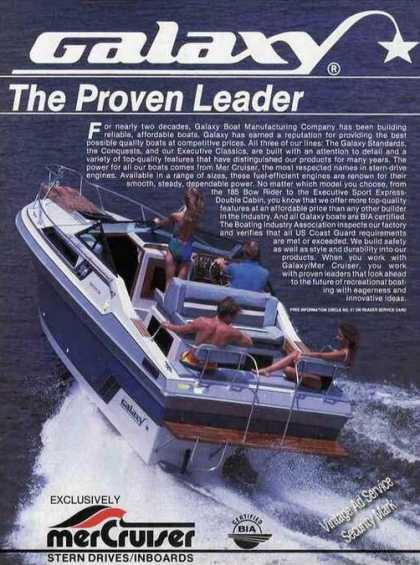 Galaxie Boats W/mercruiser Photo (1985)