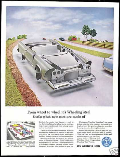 Wheeling Steel Car Parts Panels Vintage (1958)