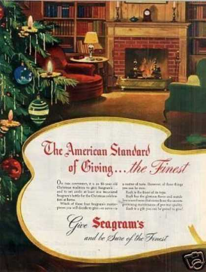 Seagram's Whiskey Ad Centerfold (1946)