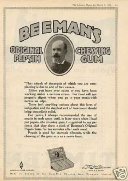 Beeman&#8217;s Chewing Gum (1918)