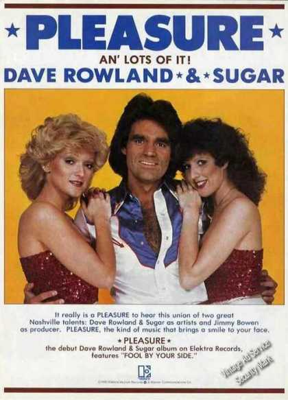 "Dave Rowland & Sugar Photo ""Pleasure"" Album (1981)"