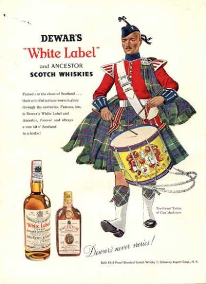 White Label Scottish + Kentucky Tavern (1956)
