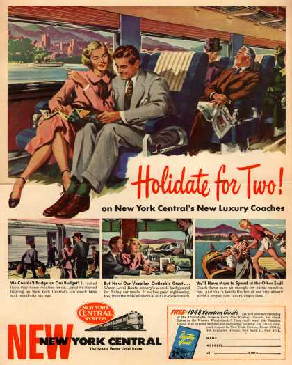 New York Central System's Luxury Coaches – Holidate for Two! on New York Central's New Luxury Coaches (1948)